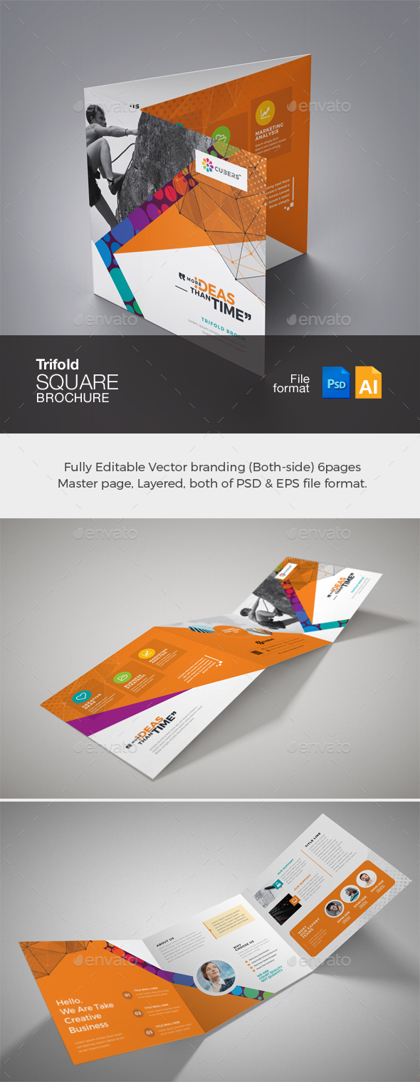 GraphicRiver Corporate Business Square TriFold Brochure 20985296