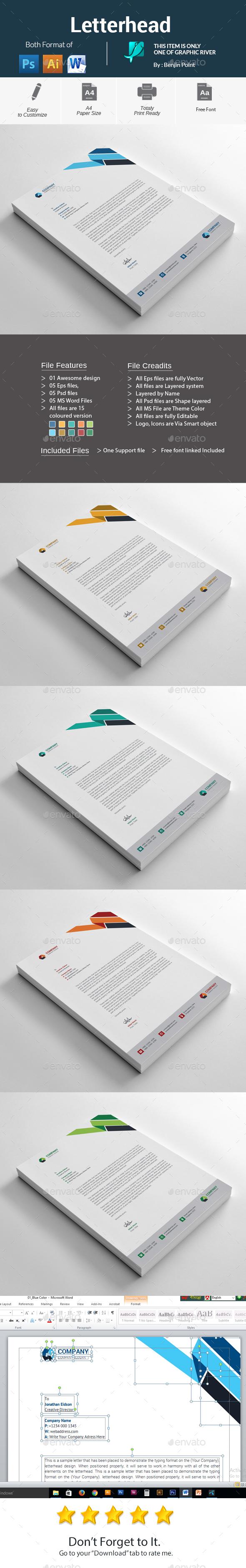 GraphicRiver Letterhead 20985299
