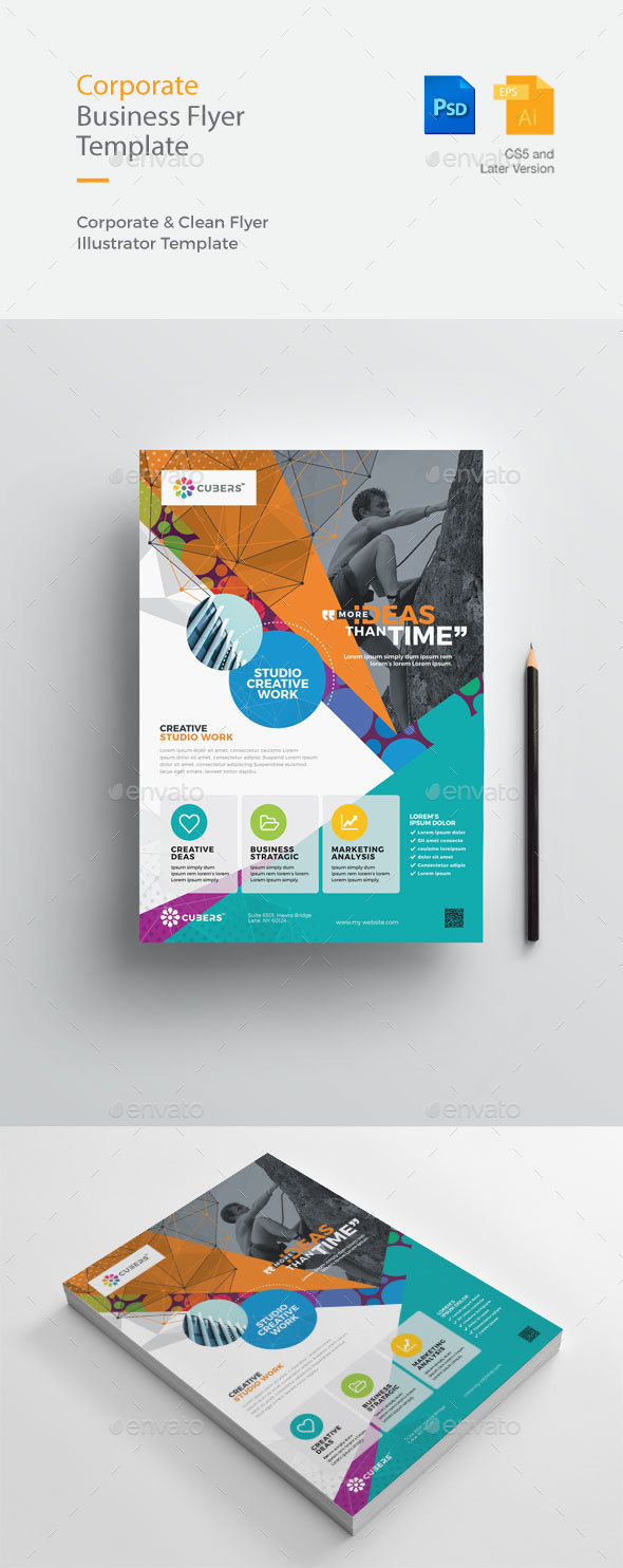 GraphicRiver Creative & Clean Business Flyer 20985341