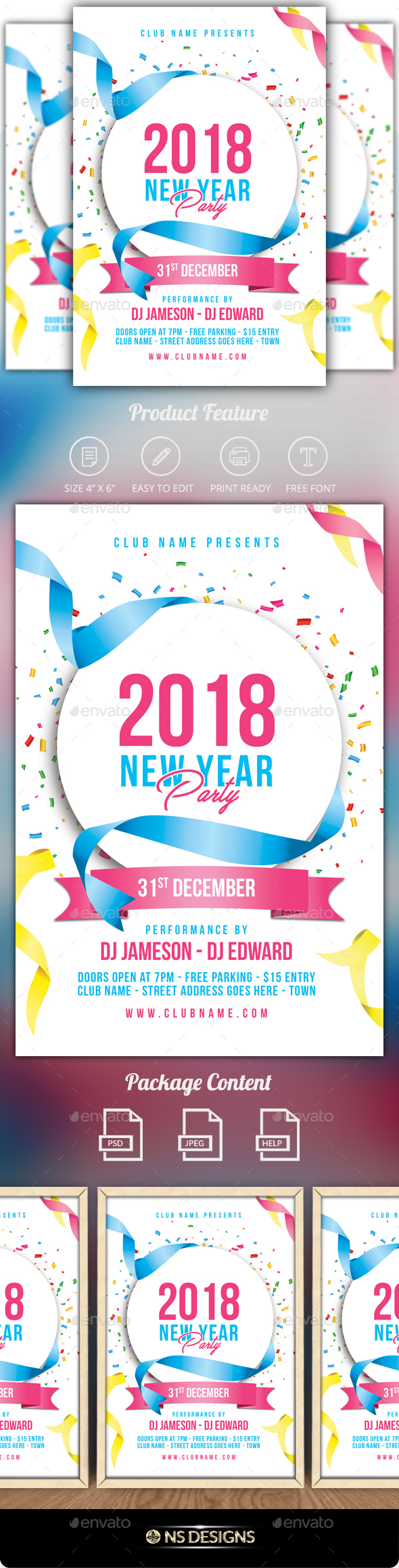 GraphicRiver New Year Flyer 20985346