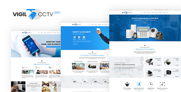 Vigil - CCTV, Security WordPress Theme