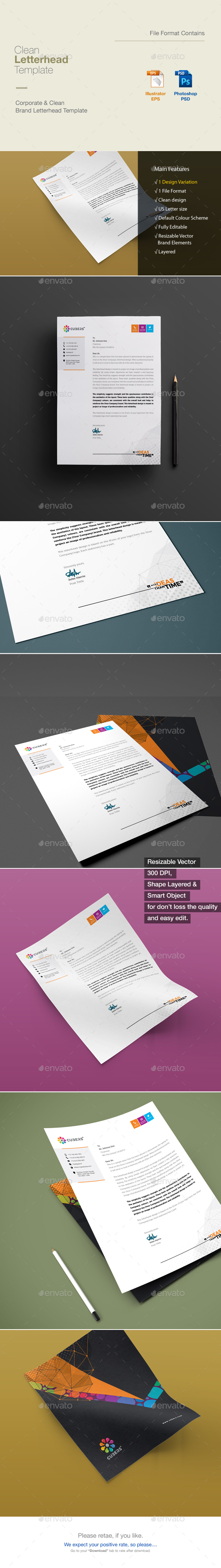 GraphicRiver Corporate Business Letterhead Template 20985360