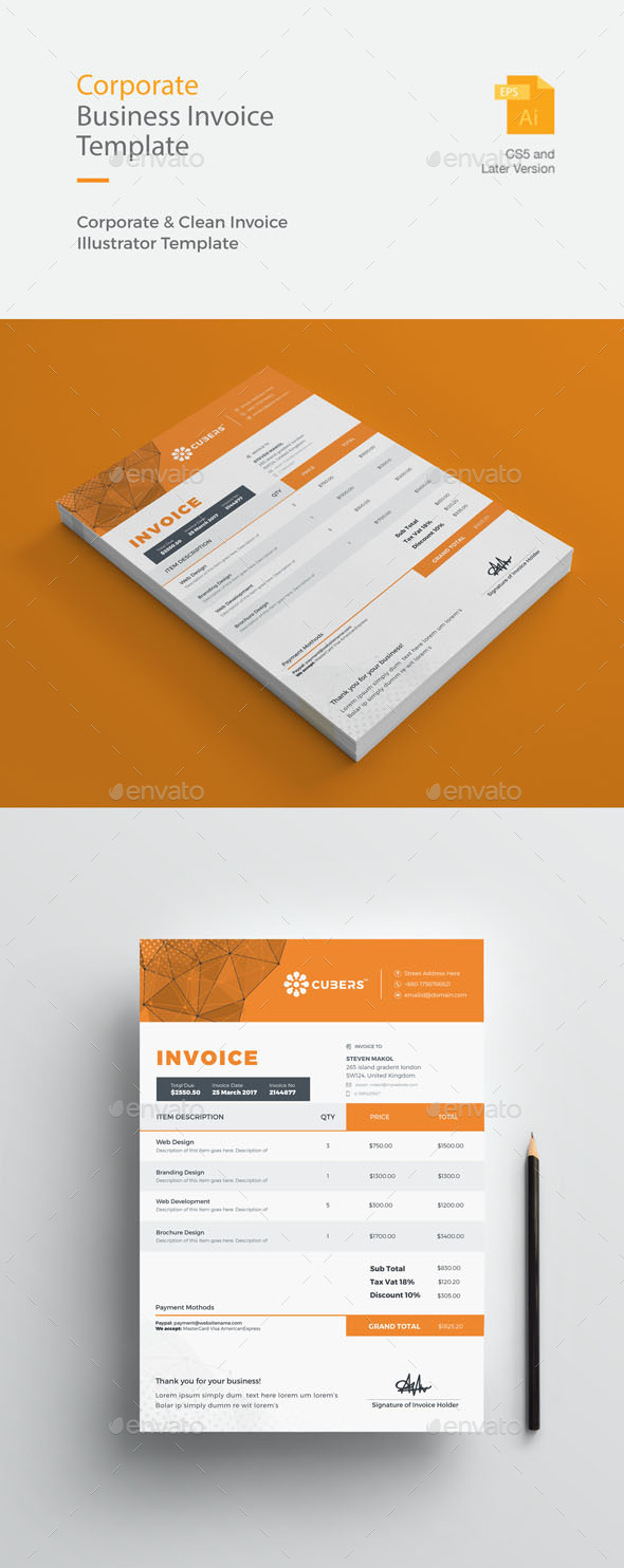 GraphicRiver Corporate Business Invoice 20985379