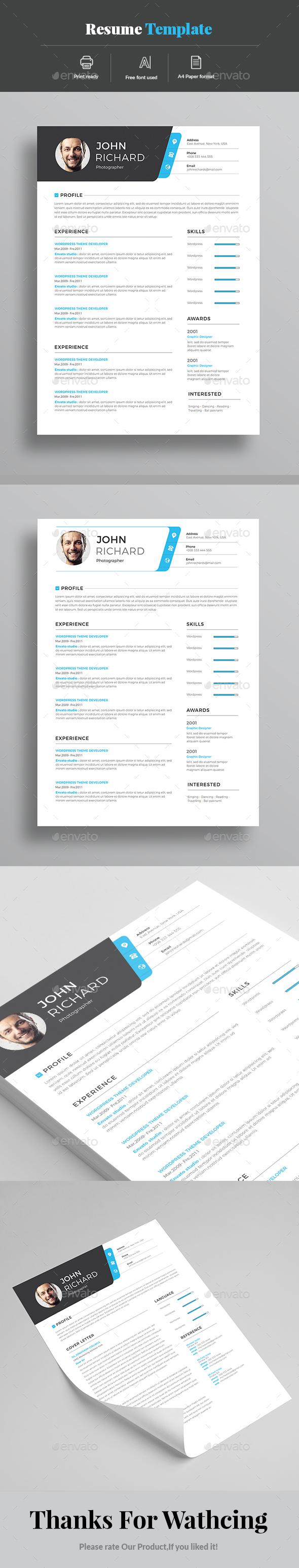 GraphicRiver Resume 20985384