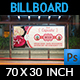 Cupcake Billboard Template - GraphicRiver Item for Sale