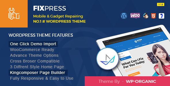FixPress - Repairing WordPress Theme