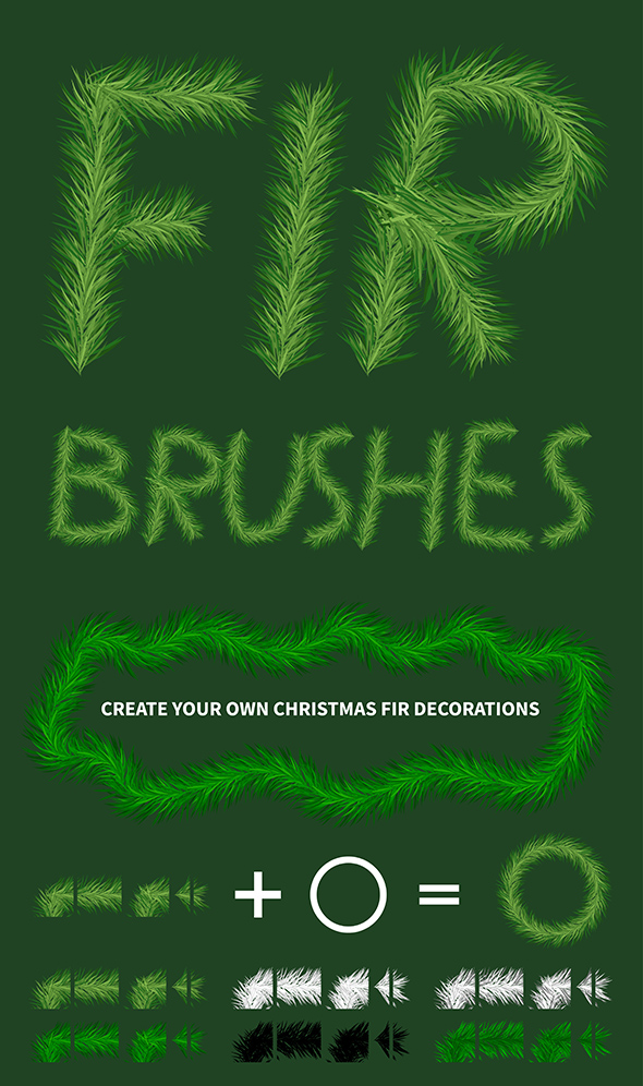 GraphicRiver Pine Tree Creator Brush 20985579