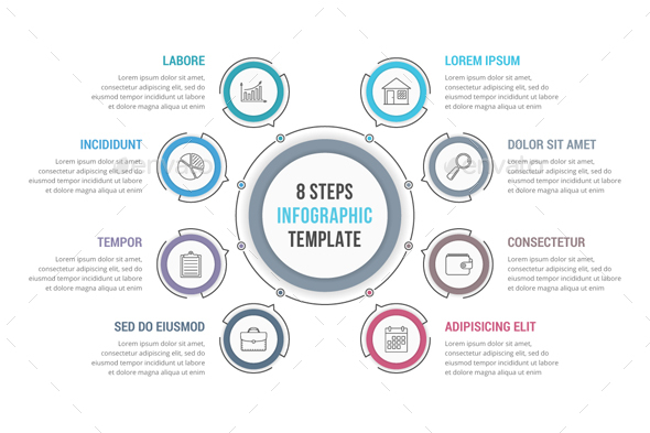 GraphicRiver 6 Steps Circle Infographics 20985608