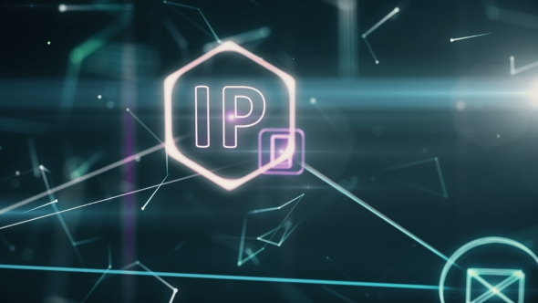 VideoHive The Three-dimensional Network Topology Infographics with Ip Addresses 20985688