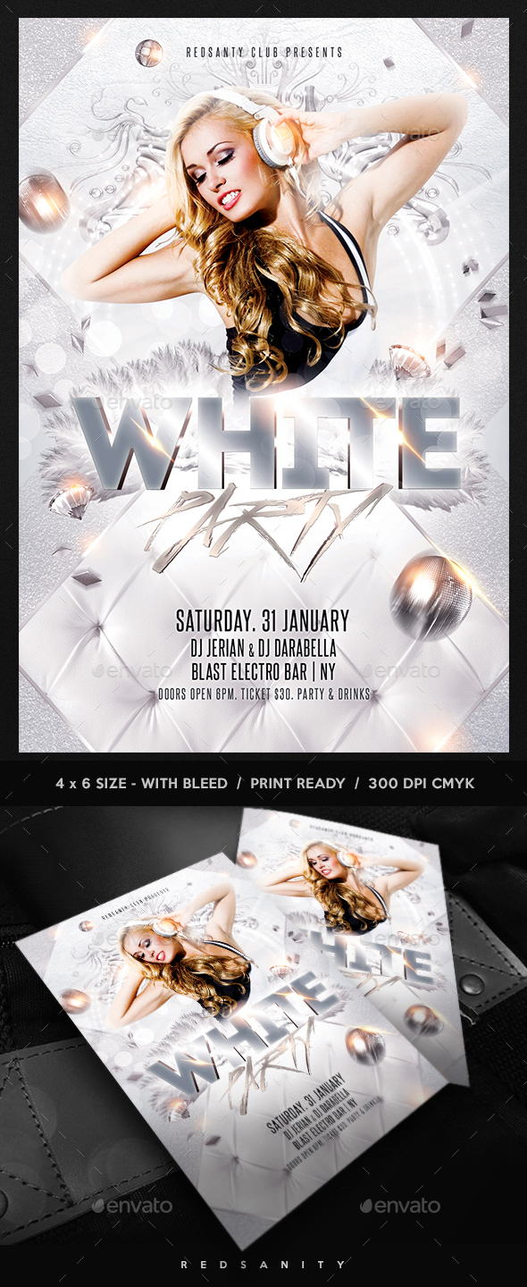 GraphicRiver White Party Flyer 20985815