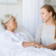 daughter visiting her senior mother at hospital - PhotoDune Item for Sale