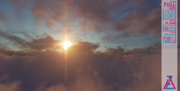 VideoHive Sun Flying in The Clouds 20986028