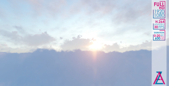 VideoHive Sun Flying in The Clouds 20986035