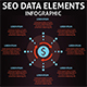 Seo Data Infographic Elements - GraphicRiver Item for Sale