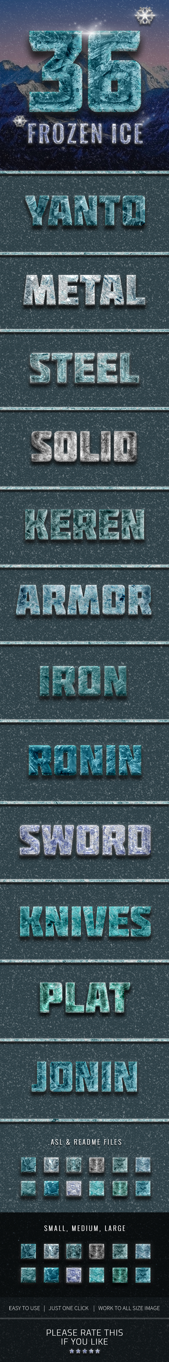 36 Frozen Ice Text Effect - Text Effects Styles