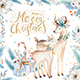Watercolor Christmas deer - GraphicRiver Item for Sale