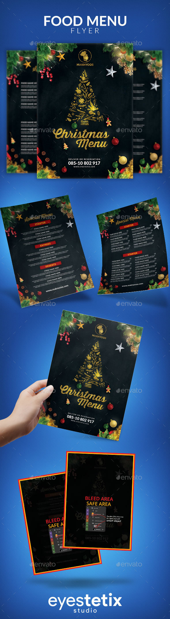 GraphicRiver Christmas Menu 20986234