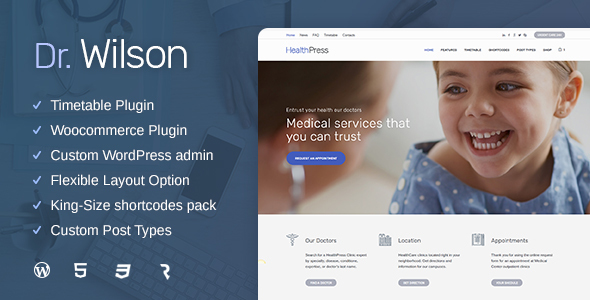 ThemeForest Doctor Wilson Medical & Health WP Theme 20840908