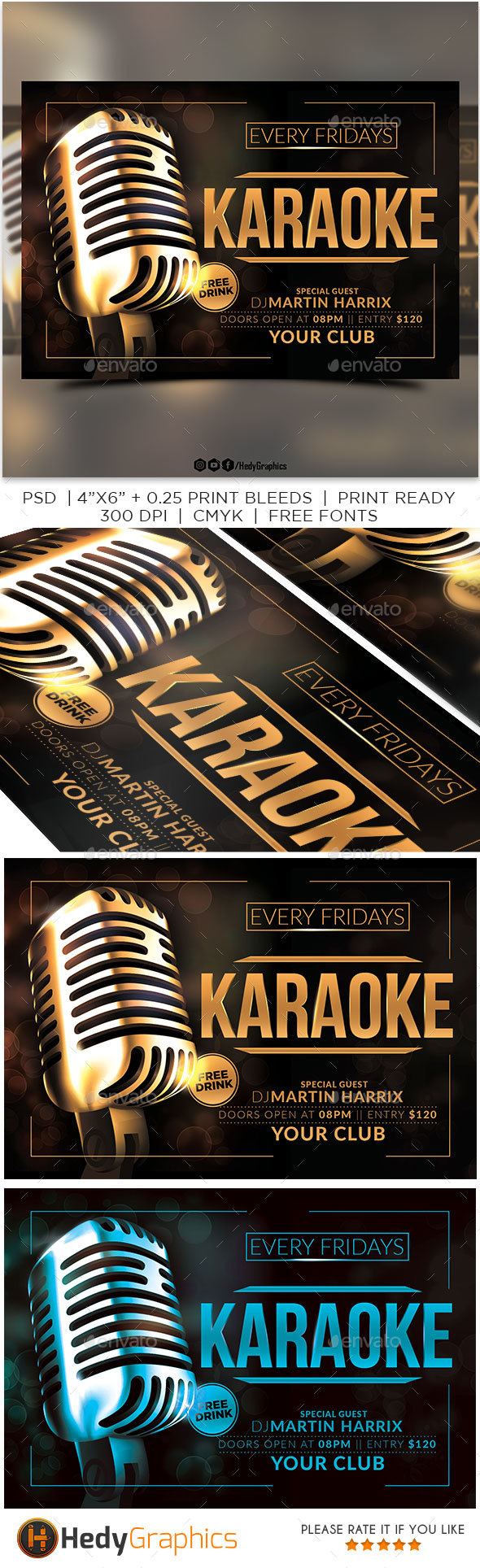 GraphicRiver Karaoke Flyer 20986367