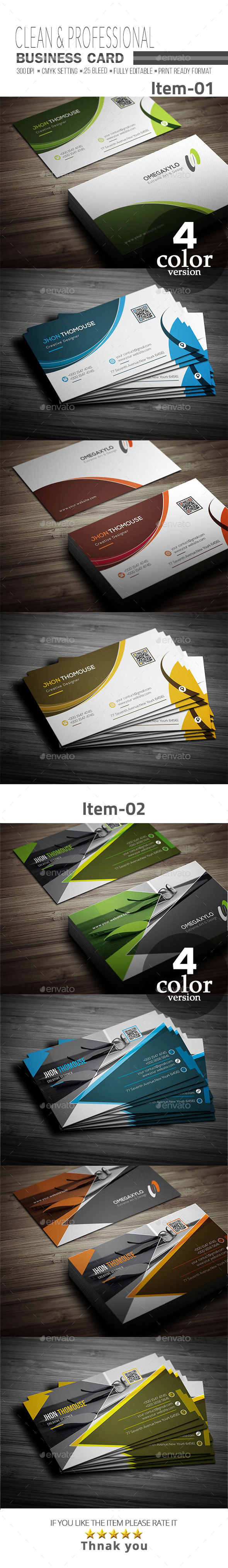 GraphicRiver Business Card Bundle 2 In 1 20986415