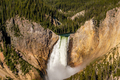 Lower Falls waterfall in Grand Canyon of Yellowstone - PhotoDune Item for Sale