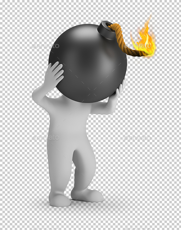 GraphicRiver 3D Small People Head Bomb 20986620