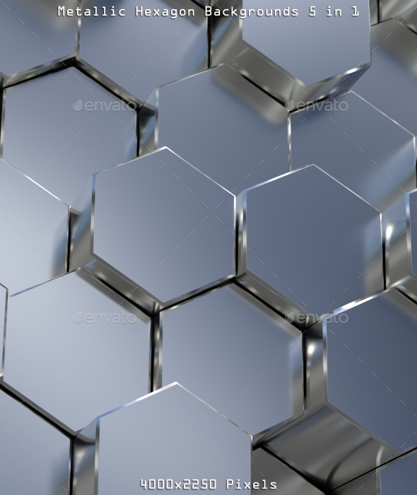 GraphicRiver Metallic Hexagon Backgrounds 20986658