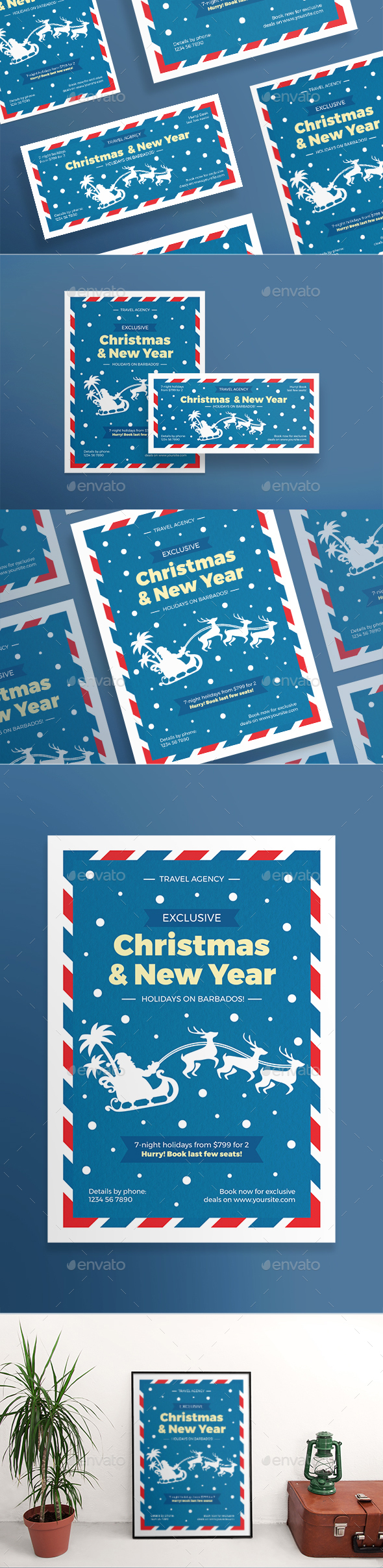 GraphicRiver Christmas Travel Flyers 20986955