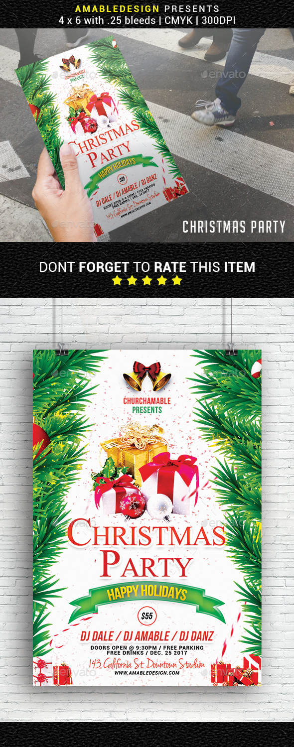 GraphicRiver Christmas Party Flyer 20987003