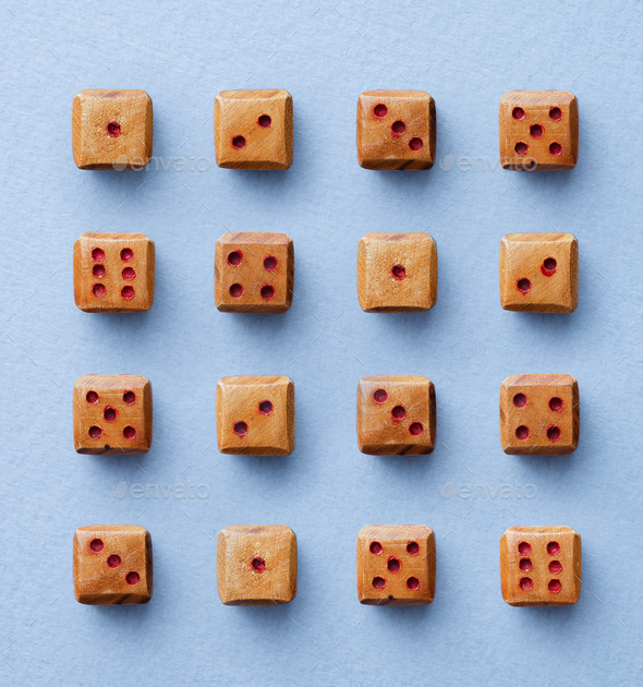 Wooden dices - Stock Photo - Images