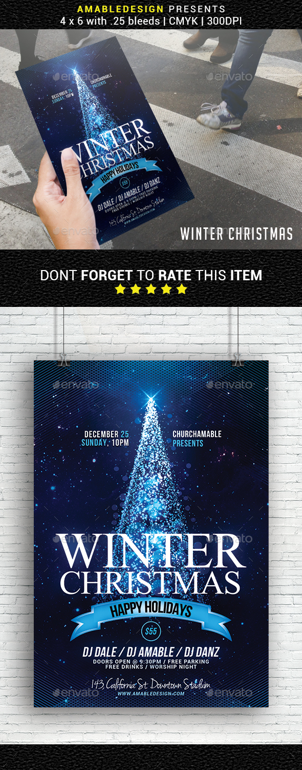 GraphicRiver Winter Christmas Flyer 20987014