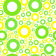 seamles pattern with green and yellow circles