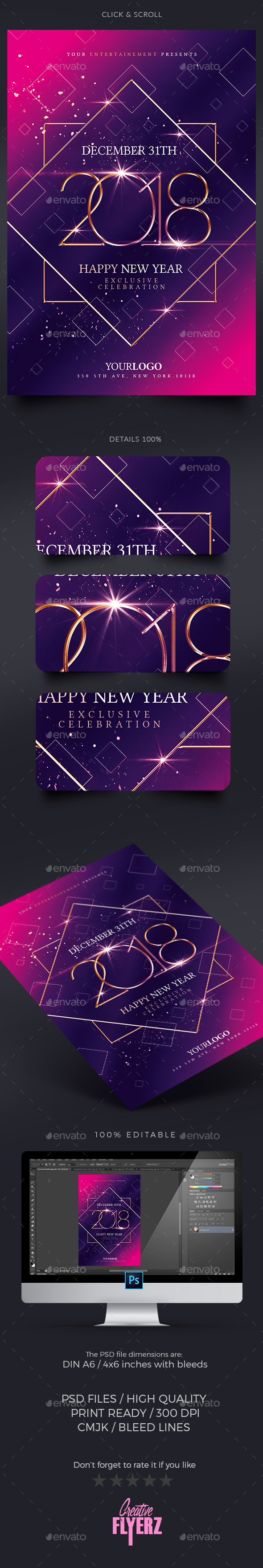 GraphicRiver New Year Party Invitation 20987039