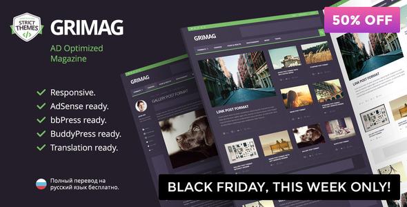 Grimag - AD & AdSense Optimized Magazine WordPress Theme - News / Editorial Blog / Magazine