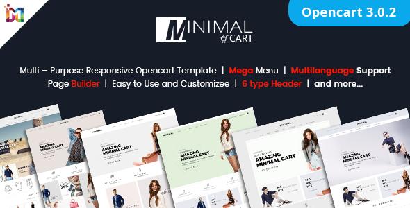 Minimal Cart - Multipurpose Responsive eCommerce OpenCart 3 Theme - OpenCart eCommerce