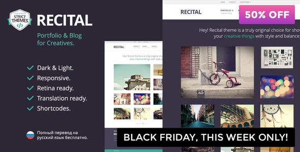 Recital - Portfolio & Blog WordPress Theme for Creatives - Art Creative
