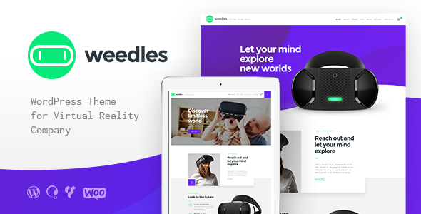 Image of Weedles | Virtual Reality Landing Page & Store WordPress Theme