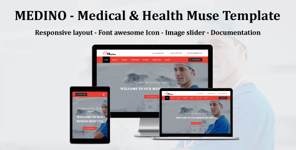 MEDINO - Medical & Health Muse Template - Corporate Muse Templates