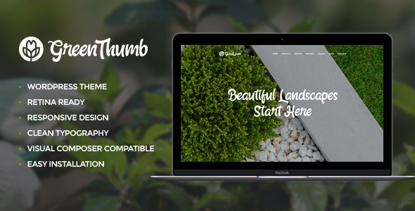 Green Thumb | Gardening & Landscaping Theme