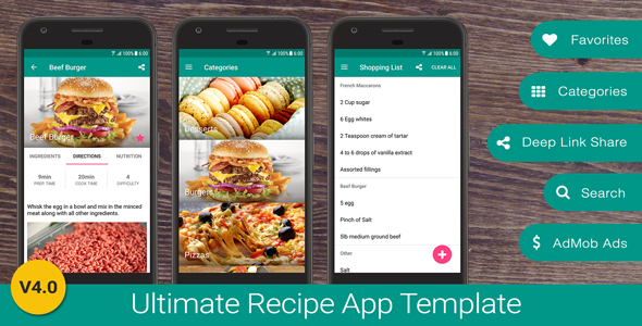 Ultimate recipe app template by neurondigital codecanyon ultimate recipe app template codecanyon item for sale forumfinder