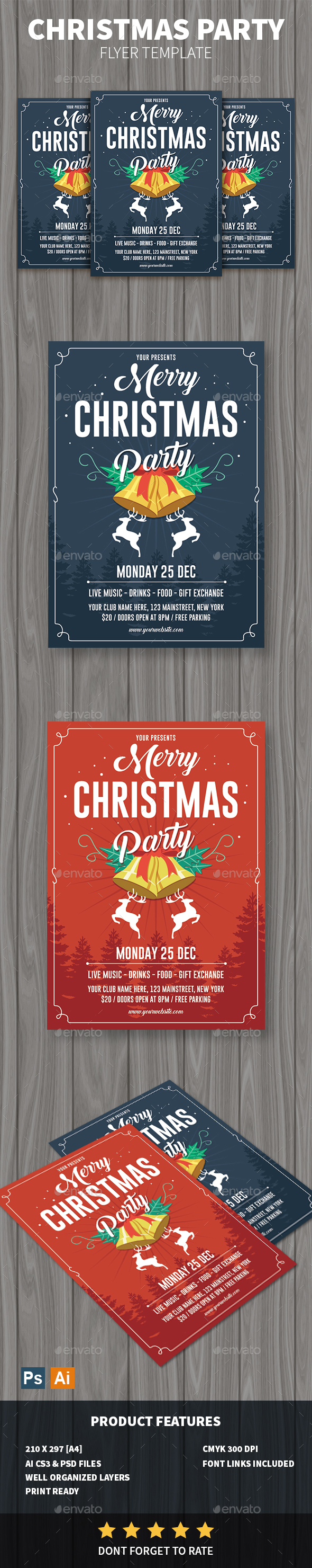 GraphicRiver Christmas Party Flyer 20987481