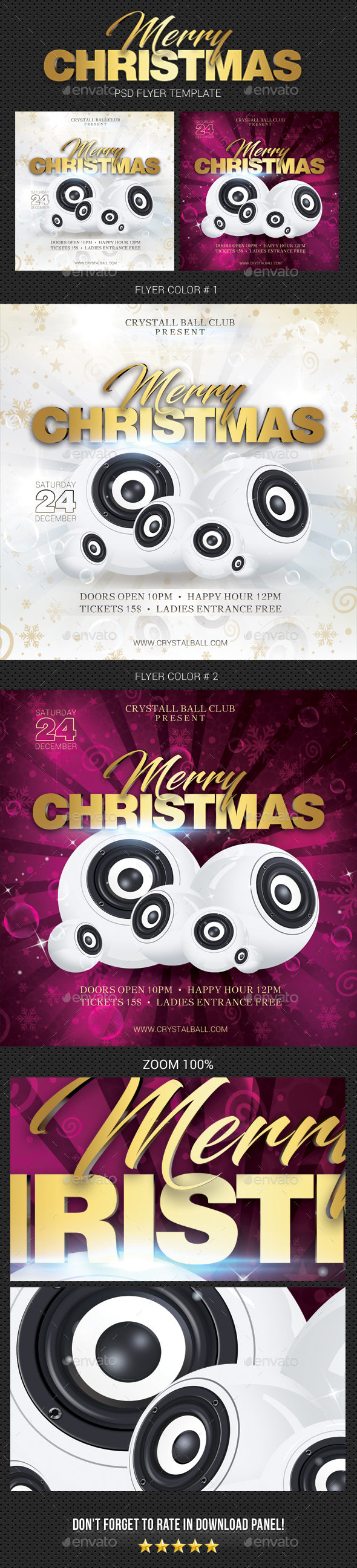 GraphicRiver Merry Christmas Party Flyer 05 20987507