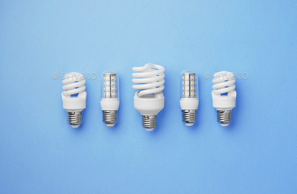 Collection of light bulbs - Stock Photo - Images