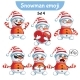 Set of Snowman Characters Set 4 - GraphicRiver Item for Sale