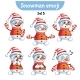 Set of Snowman Characters Set 5
