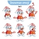 Set of Snowman Characters Set 1 - GraphicRiver Item for Sale