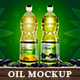 Kitchen Oil Plastic Bottle Mockup