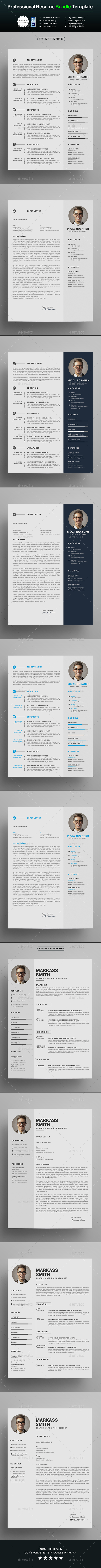 GraphicRiver Resume Bundle 20987640