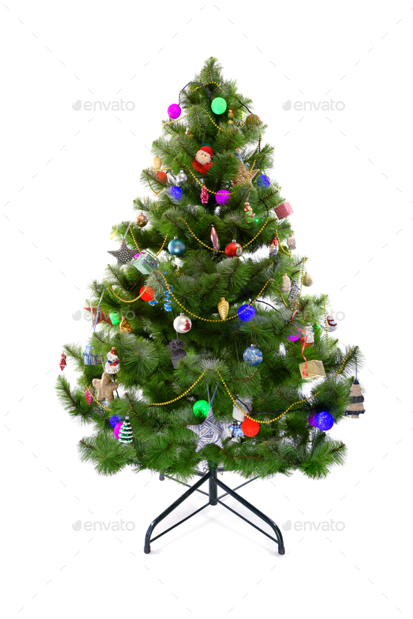 Christmas tree with toys - Stock Photo - Images