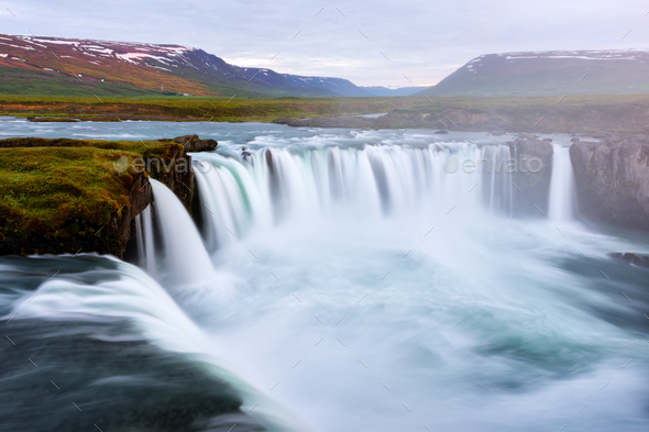 Godafoss waterfall on Skjalfandafljot river - Stock Photo - Images